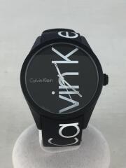 クォーツ腕時計/アナログ/ラバー/ブラック/K5E51TBZ
