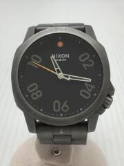 ニクソン/RANGER 45/クォーツ腕時計/アナログ/ステンレス/BLK/GRY