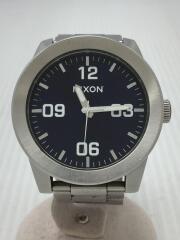 ニクソン/TAKE CHARGE/クォーツ腕時計/アナログ/ステンレス/NVY/SLV