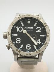 ニクソン/51-30/クォーツ腕時計/アナログ/ステンレス/BLK/SLV