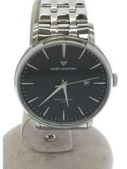 マリオヴェレンチノ/クォーツ腕時計/アナログ/ステンレス/BLK/SLV