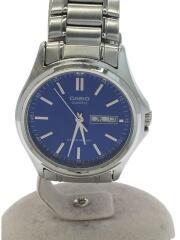 カシオ/クォーツ腕時計/アナログ/ステンレス/BLU/SLV/MTP-1239DJ