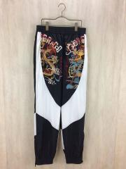 18SS06PT64/BREAK UP EMBROIDERY TRACK PANTS/S/ナイロン/BLK/中古