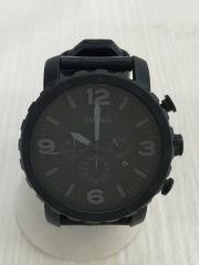 NATE/ネイト/JR-1354/5ATM/クォーツ腕時計/アナログ/--/BLK/BLK/中古/クロノ