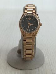 クォーツ腕時計/--/ステンレス/GRY/GLD