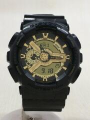 クォーツ腕時計/アナログ/--/GLD/BLKGA-110BR