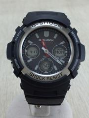ソーラー腕時計/デジアナ/BLK