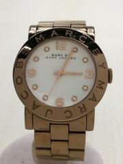 マークバイマークジェイコブス/クォーツ腕時計/アナログ/ステンレス/WHT/GLD/MBM3077