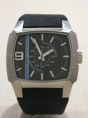 ディーゼル/クォーツ腕時計/アナログ/レザー/BLK/DZ-1131