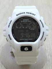g-shock mini/クォーツ腕時計/デジタル/WHT/GMN-691