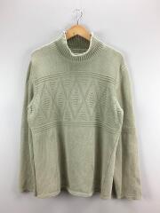 セーター(厚手)/XL/コットン/GRN