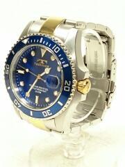テクノス/T2118/クォーツ腕時計/アナログ/BLU