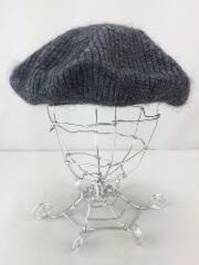 ベレー帽/FREE/モヘア/GRY