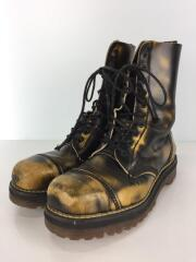 old dr martens boots/10 hole boots/ブーツ/UK8/BLK/レザー