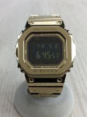 箱・コマ付属/G-SHOCK/ソーラー腕時計/デジタル/ステンレス/GLD
