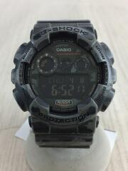 迷彩/クォーツ腕時計・G-SHOCK/デジタル/ラバー/GRY/GD-120CM-8JR