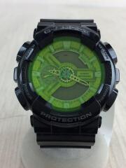 クォーツ腕時計・G-SHOCK/デジアナ/ラバー/GRN/BLK/GA-110B-1A3JF