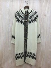 コート/--/ウール/IVO/Nordic Long Knit Coat/ノルディックロングニットコート