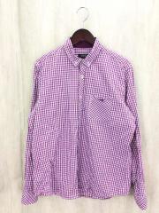 長袖シャツ/4/コットン/PUP/ギンガムCK/D1M09-608-34/ドレスシャツ