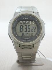 CASIO/カシオ/ソーラー腕時計/デジタル/ステンレス/SLV