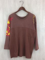 13ss/再構築長袖Tシャツ/コットン/BRW