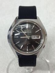 自動巻腕時計/アナログ/ラバー/BLK/BLK/6106-7580/5アクタス/SS/23JEWELS