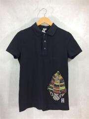 ポロシャツ/XS/コットン/ブラック/プリント/半袖/a-28003861/h2179980cr/