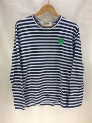 長袖Tシャツ/L/コットン/NVY/ボーダー