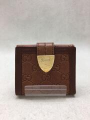 財布/レザー/ブラウン/茶/総柄/2つ折り財布