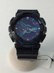 クォーツ腕時計/デジアナ/ラバー/文字盤ブルー/ブラック/5146/Hyper Colors