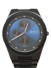 クォーツ腕時計/アナログ/ステンレス/文字盤ブルー/グレー/32339-788