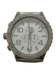 腕時計/アナログ/ステンレス/WHT/WHT