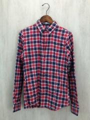 ネルシャツ/S/コットン/RED/チェック