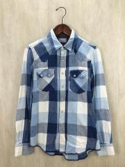 ネルシャツ/1/コットン/BLK/チェック