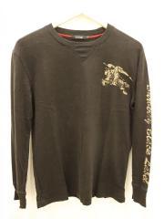 長袖Tシャツ/2/コットン/BLK
