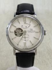 自動巻腕時計/アナログ/レザー/WHT