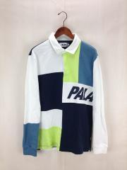 2016-17AW/PATCHWORK RUGBY/ラガーシャツ/M/コットン