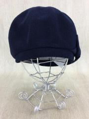 綿麻ベレー帽/M/NVY