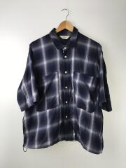 半袖シャツ/2/コットン/NVY/オンブレCK