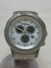 クロノグラフ/石付き/クォーツ腕時計/アナログ/ステンレス/ホワイト/シルバー/JRS19