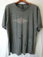 USA製/ダメージ/Tシャツ/XL/コットン/BLK/ハーレーダヴィッドソン
