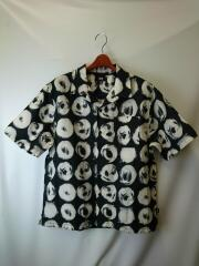 21ss/HAND DRAWN DOT SHIRT/オープンカラーシャツ/M/ポリエステル/BLK/1110158