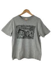 Tシャツ/M/コットン/GRY/プリント