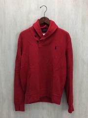 SHAWL COLLAR SWEAT/スウェット/S/コットン/RED