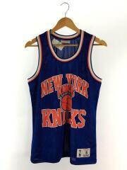 NEW YORK KNICKS NBA DROP STEP MESH/タンクトップ/S/ポリエステル/BLU