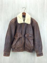 レザージャケット・ブルゾン/M/羊革