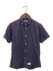 2012SS/半袖ボタンダウンシャツ/M/コットン/ギンガム/121LTDT-SHM05