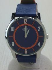クォーツ腕時計/アナログ/--/BLU/BLU