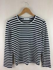 Tシャツ/M/コットン/BLK/ボーダー/OC-T028