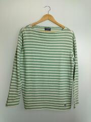 バスクシャツ/長袖Tシャツ/5/コットン/GRN/ボーダー
